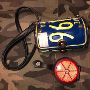 License Plate Purse and Reflector Compact